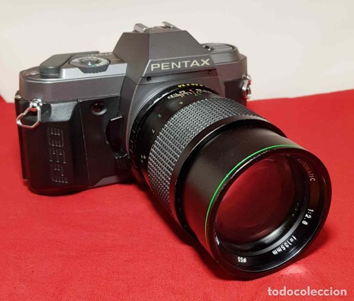 CAMARA PENTAX P30 T, CON TELE 2.8 135 MM (Cámaras Fotográficas - Réflex (no autofoco))