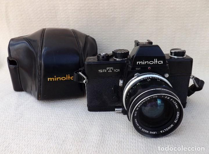 CÁMARA FOTOGRÁFICA MINOLTA SRT 101 - OBJETIVO W.ROKKOR 35 MM JAPAN (Cámaras Fotográficas - Réflex (no autofoco))