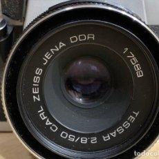 Cámara de fotos: PRAKTICA SUPER TL2 CON OBJETIVO CARL ZEISS TESSAR 50MM 2.8. Lote 195163793