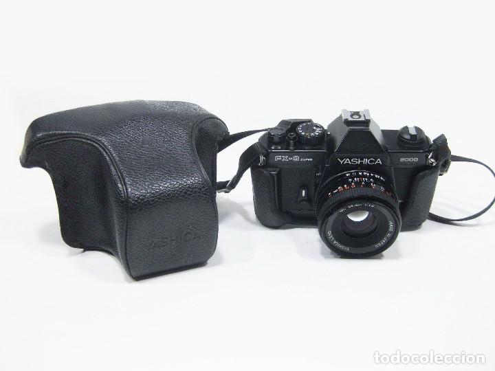 CÁMARA FOTOGRÁFICA YASHICA. FX-3 SUPER 2000. OBJETIVO: YASHICA ML 50 MM 1:1.9. FUNCIONANDO. (Cámaras Fotográficas - Réflex (no autofoco))