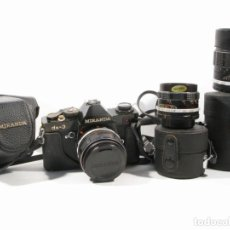 Cámara de fotos: LOTE CAMARA MIRANDA DX-3 CON OBJETIVOS 28MM, 50MM Y 135MM CON ESTUCHE. Lote 198345792