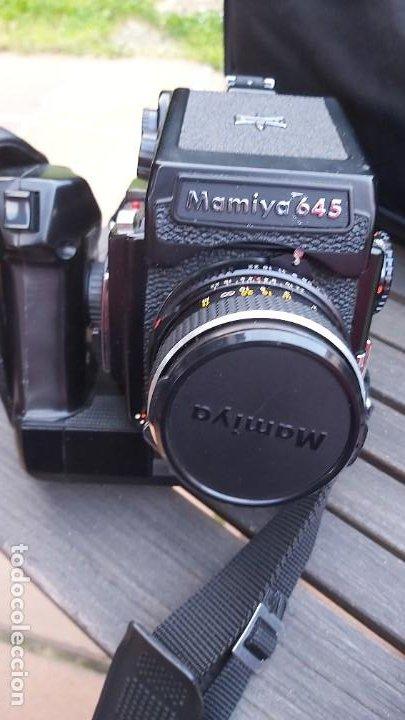 CAMARA DE FORMATO MEDIO MAMIYA 645 CON 2 OBJETIVOS, MOTOR, CHASIS Y BOLSA (Cámaras Fotográficas - Réflex (no autofoco))