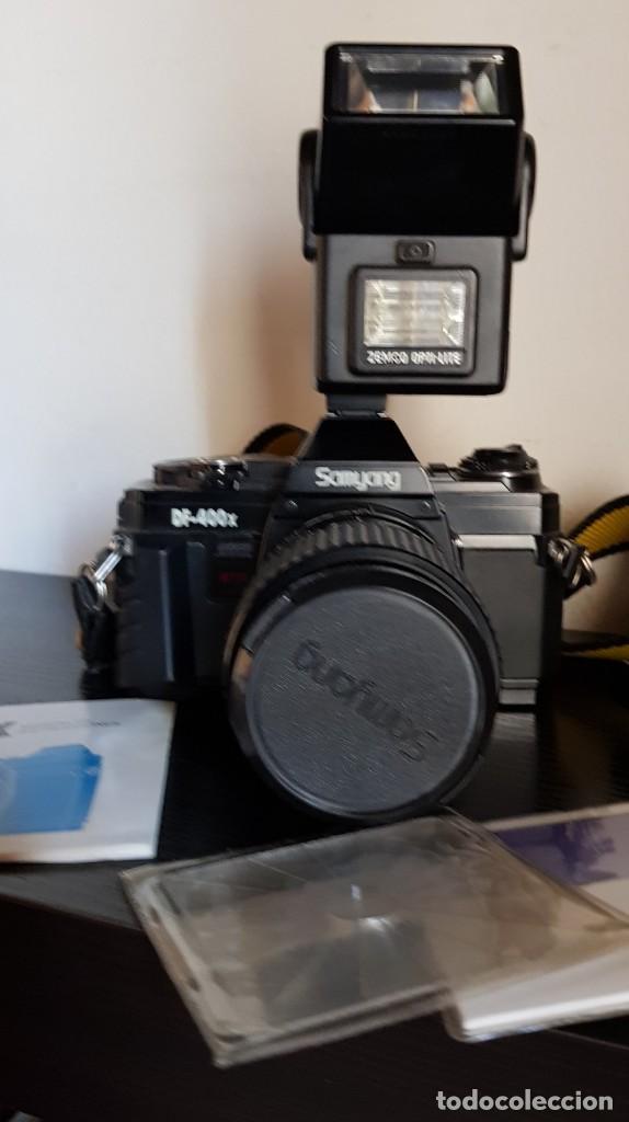 SAMYANG DF 400 X CON FLASH DOBLE + JUEGO DE FILTROS + GUIA MANUAL DE INSTRUCCIONES (Cámaras Fotográficas - Réflex (no autofoco))