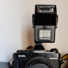 Cámara de fotos: SAMYANG DF 400 X CON FLASH DOBLE + JUEGO DE FILTROS + GUIA MANUAL DE INSTRUCCIONES. Lote 198613795