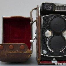 Cámara de fotos: CÁMARA YASHICA MAT LM DE OBJETIVO COPAL MXV CON SU FUNDA ORIGINAL AÑOS 60. Lote 208839962