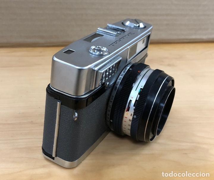 Cámara de fotos: CAMARA FOTOGRAFICA MINOLTA ROKKOR. 1:2.8 / 45. EN ESTUCHE ORIGINAL. FUNCIONA. AÑOS 70 - Foto 2 - 199621062