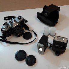 Cámara de fotos: CÁMARA FOTOGRÁFICA RÉFLEX FUJICA STX-1 Y COMPLEMENTOS. Lote 200524953