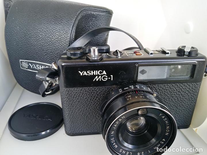 CÁMARA YASHICA MG1 CON FUNDA JAPÓN (Cámaras Fotográficas - Réflex (no autofoco))