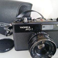 Cámara de fotos: CÁMARA YASHICA MG1 CON FUNDA JAPÓN. Lote 202961450