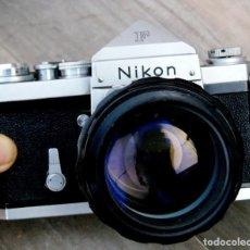 Cámara de fotos: NIKON F.PRISMA SIN FOT.* + 85 NIKON F/1,8. Lote 203270752