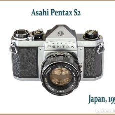 Câmaras de fotos: ASAHI PENTAX S2, REFLEX JAPONESA TOTALMENTE MECÁNICA DE 1959. MUY BUEN ESTADO.. Lote 203589643