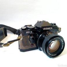 Cámara de fotos: YASHICA FX-D QUARTZ + ML 50MM 1:1.4 - CÁMARA RÉFLEX + OBJETIVO - MADE IN JAPAN -. Lote 206216887