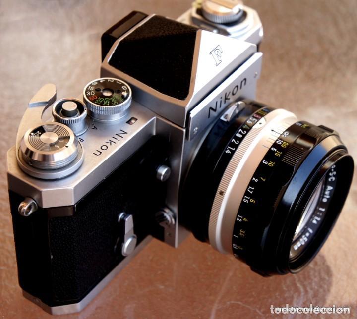 Cámara de fotos: NIKON F, 50 F/1,8 años 60.MINT+++.Como nueva. - Foto 5 - 208369673