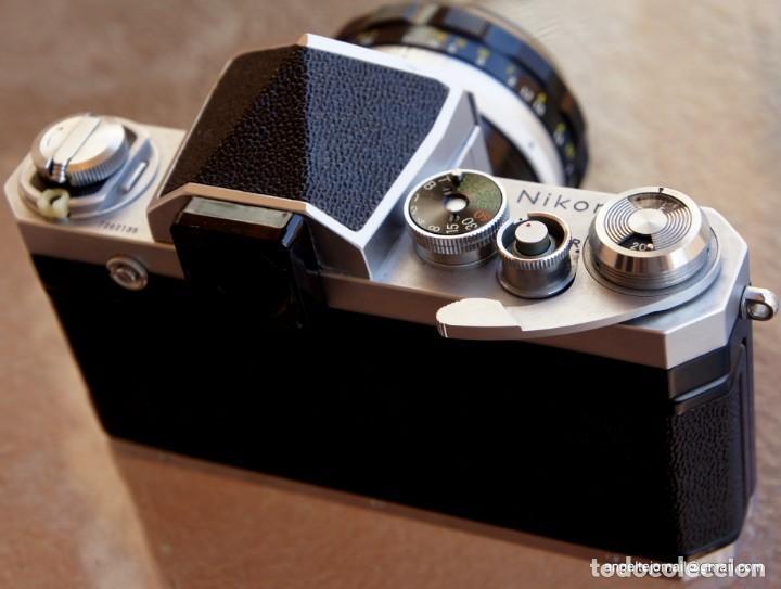 Cámara de fotos: NIKON F, 50 F/1,8 años 60.MINT+++.Como nueva. - Foto 7 - 208369673