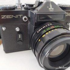 Cámara de fotos: CAMARA FOTOGRAFICA ZENIT REFLEX DE CORTINILLA FUNCIOANDO. Lote 210403262