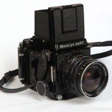 Cámara de fotos: MAMIYA RB67 + MAMIYA-SEKOR 50MM F4,5 + CHASIS 120 + VISOR- FORMATO MEDIO 6X7 CM. Lote 211389114