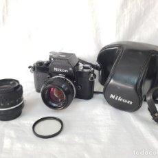 Cámara de fotos: NIKON F2 BLACK PHOTOMIC DE 1975. 2 OBJETIVOS.. Lote 213028526