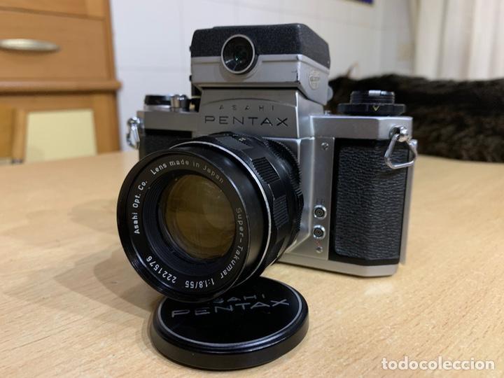 PENTAX SV CON FOTOMETRO Y SÚPER TAKUMAR 55MM 1.8 (Cámaras Fotográficas - Réflex (no autofoco))