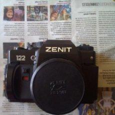 Cámara de fotos: LOTE CÁMARA ZENIT 122 + FLASH. Lote 218530136