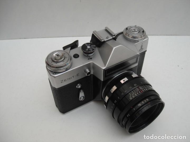 Cámara de fotos: CAMARA ZENIT E - CON OBJETIVO HELIOS 44M 2/58 - EDICIÓN ESPECIAL JUEGOS OLÍMPICOS MOSCU 1980 - Foto 2 - 219833540