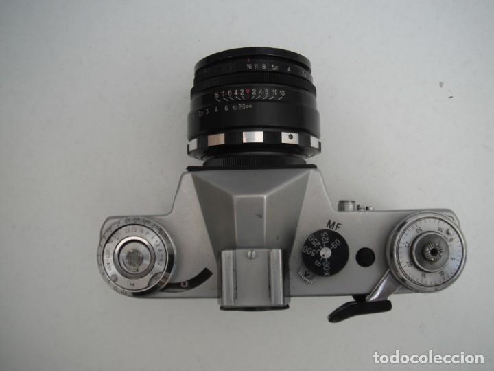 Cámara de fotos: CAMARA ZENIT E - CON OBJETIVO HELIOS 44M 2/58 - EDICIÓN ESPECIAL JUEGOS OLÍMPICOS MOSCU 1980 - Foto 7 - 219833540