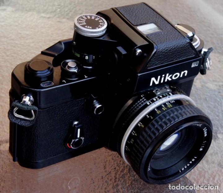 Cámara de fotos: Excepcional Nikon de colección.Estado de Museo.Nikon F2 Negra.con Nikkor 50 1,8. - Foto 2 - 219890213