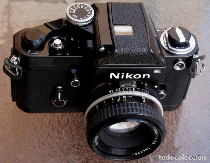 Cámara de fotos: Excepcional Nikon de colección.Estado de Museo.Nikon F2 Negra.con Nikkor 50 1,8. - Foto 3 - 219890213