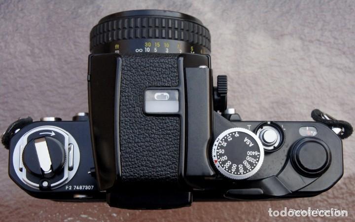Cámara de fotos: Excepcional Nikon de colección.Estado de Museo.Nikon F2 Negra.con Nikkor 50 1,8. - Foto 4 - 219890213