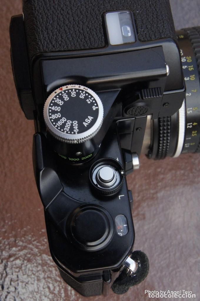 Cámara de fotos: Excepcional Nikon de colección.Estado de Museo.Nikon F2 Negra.con Nikkor 50 1,8. - Foto 6 - 219890213