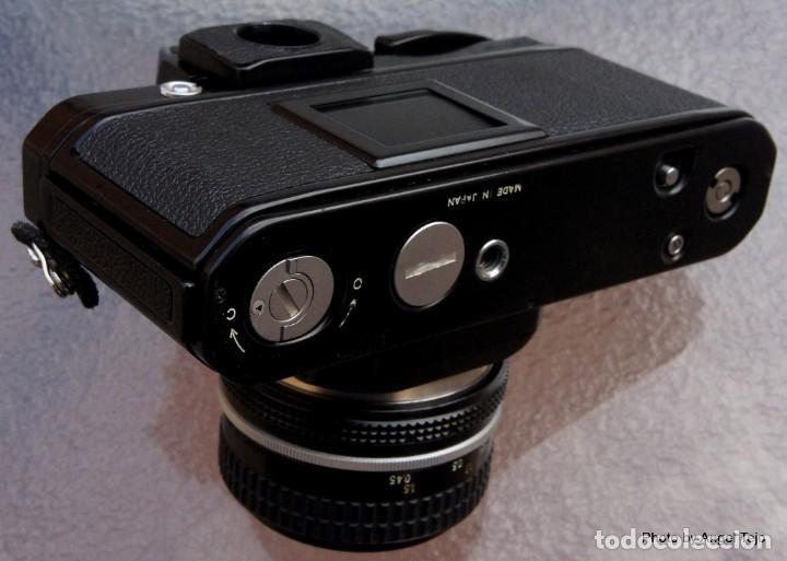 Cámara de fotos: Excepcional Nikon de colección.Estado de Museo.Nikon F2 Negra.con Nikkor 50 1,8. - Foto 8 - 219890213