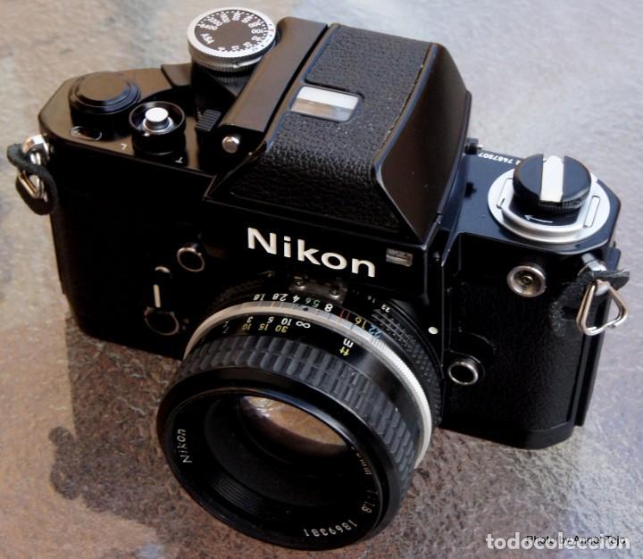 Cámara de fotos: Excepcional Nikon de colección.Estado de Museo.Nikon F2 Negra.con Nikkor 50 1,8. - Foto 11 - 219890213