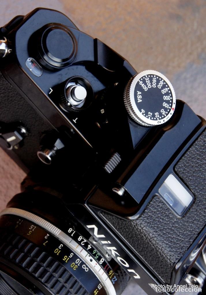Cámara de fotos: Excepcional Nikon de colección.Estado de Museo.Nikon F2 Negra.con Nikkor 50 1,8. - Foto 12 - 219890213