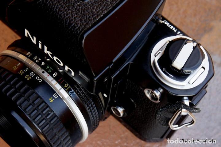 Cámara de fotos: Excepcional Nikon de colección.Estado de Museo.Nikon F2 Negra.con Nikkor 50 1,8. - Foto 13 - 219890213