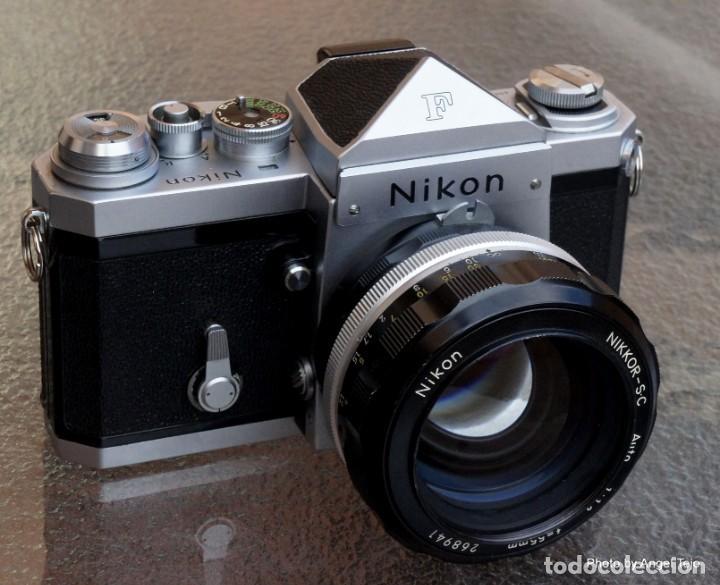 EXCEPCIONAL NIKON DE COLECCIÓN.ESTADO DE MUSEO.NIKON F, PRISM FINDER.CON NIKKOR 50 1 / 1,2 (Cámaras Fotográficas - Réflex (no autofoco))