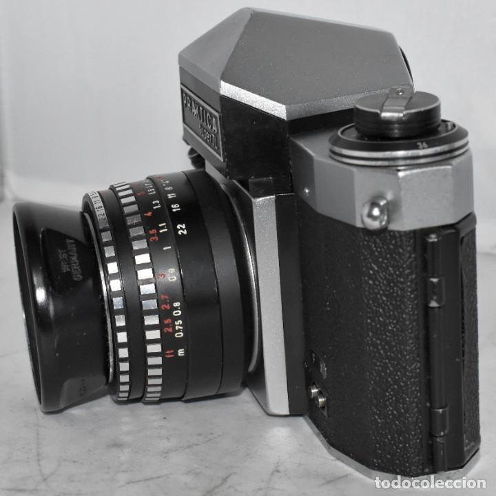 Cámara de fotos: CAMARA REFLEX MANUAL..ALEMANIA (DDR) 1968..PRAKTICA SUPER TL+DOMIPLAN 2,8/50 Y PARASOL METAL - Foto 4 - 220279555