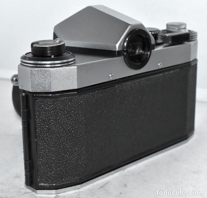 Cámara de fotos: CAMARA REFLEX MANUAL..ALEMANIA (DDR) 1968..PRAKTICA SUPER TL+DOMIPLAN 2,8/50 Y PARASOL METAL - Foto 5 - 220279555