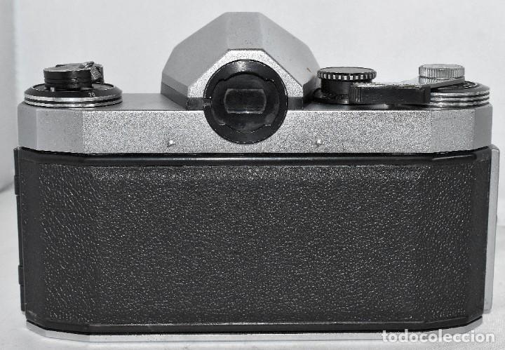 Cámara de fotos: CAMARA REFLEX MANUAL..ALEMANIA (DDR) 1968..PRAKTICA SUPER TL+DOMIPLAN 2,8/50 Y PARASOL METAL - Foto 6 - 220279555