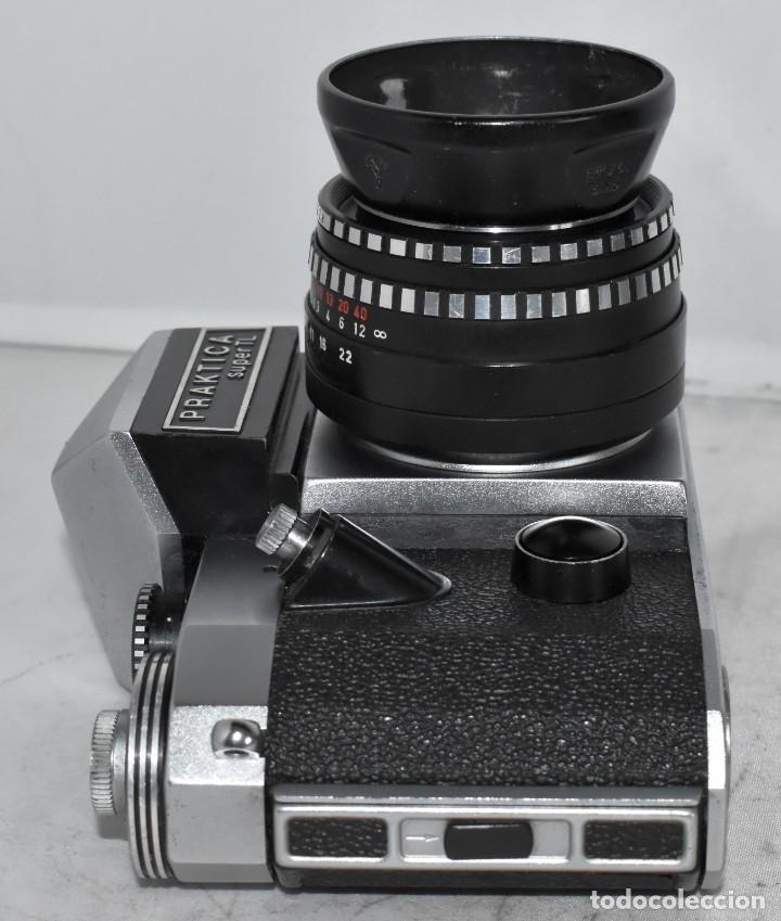 Cámara de fotos: CAMARA REFLEX MANUAL..ALEMANIA (DDR) 1968..PRAKTICA SUPER TL+DOMIPLAN 2,8/50 Y PARASOL METAL - Foto 9 - 220279555