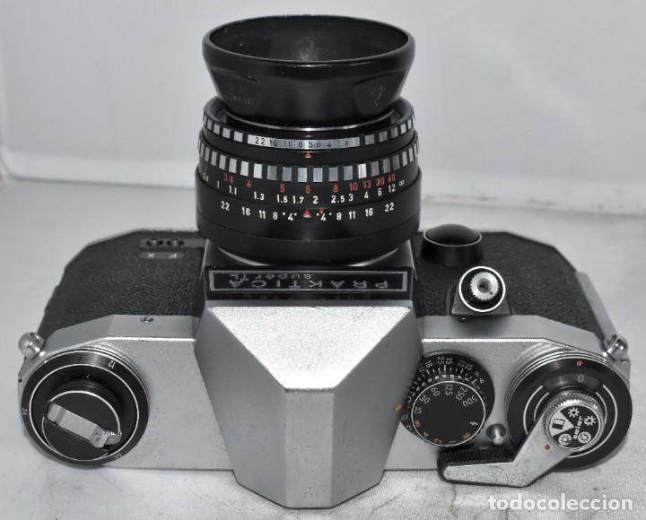 Cámara de fotos: CAMARA REFLEX MANUAL..ALEMANIA (DDR) 1968..PRAKTICA SUPER TL+DOMIPLAN 2,8/50 Y PARASOL METAL - Foto 12 - 220279555