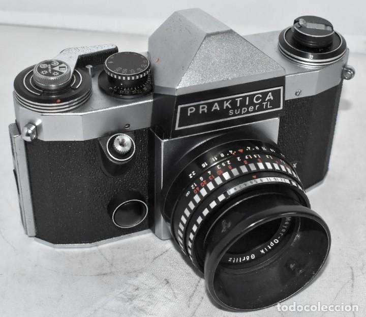 Cámara de fotos: CAMARA REFLEX MANUAL..ALEMANIA (DDR) 1968..PRAKTICA SUPER TL+DOMIPLAN 2,8/50 Y PARASOL METAL - Foto 13 - 220279555