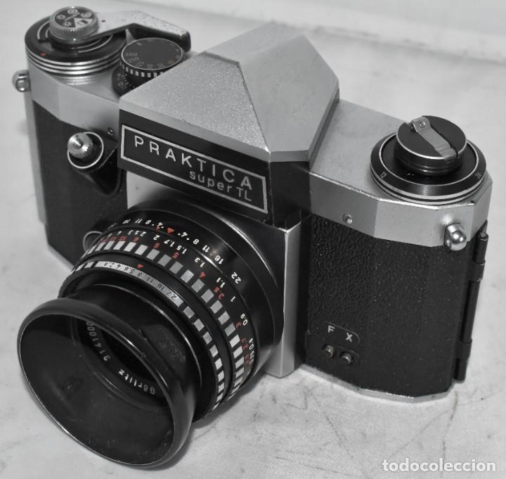 Cámara de fotos: CAMARA REFLEX MANUAL..ALEMANIA (DDR) 1968..PRAKTICA SUPER TL+DOMIPLAN 2,8/50 Y PARASOL METAL - Foto 14 - 220279555