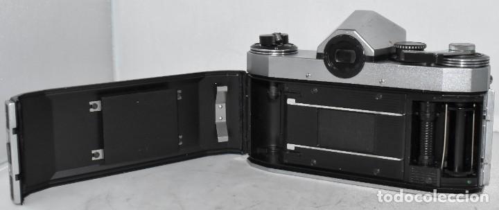 Cámara de fotos: CAMARA REFLEX MANUAL..ALEMANIA (DDR) 1968..PRAKTICA SUPER TL+DOMIPLAN 2,8/50 Y PARASOL METAL - Foto 16 - 220279555