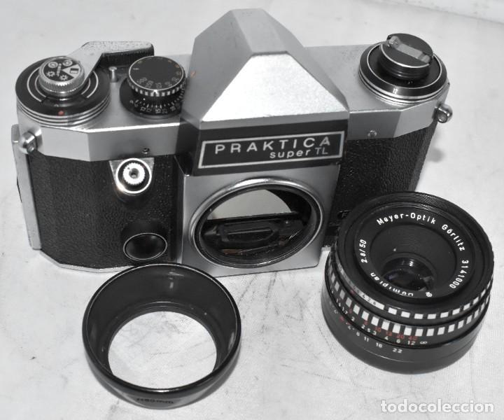Cámara de fotos: CAMARA REFLEX MANUAL..ALEMANIA (DDR) 1968..PRAKTICA SUPER TL+DOMIPLAN 2,8/50 Y PARASOL METAL - Foto 17 - 220279555