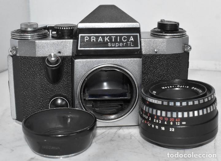 Cámara de fotos: CAMARA REFLEX MANUAL..ALEMANIA (DDR) 1968..PRAKTICA SUPER TL+DOMIPLAN 2,8/50 Y PARASOL METAL - Foto 18 - 220279555