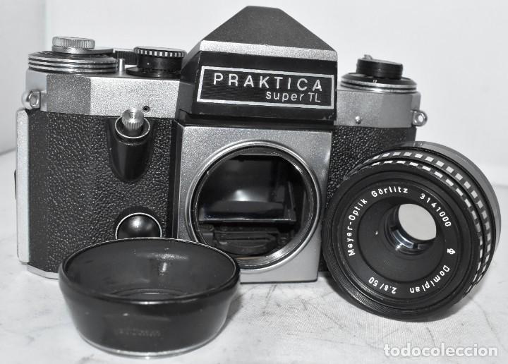 Cámara de fotos: CAMARA REFLEX MANUAL..ALEMANIA (DDR) 1968..PRAKTICA SUPER TL+DOMIPLAN 2,8/50 Y PARASOL METAL - Foto 19 - 220279555