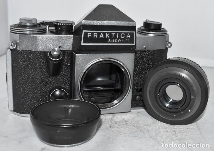 Cámara de fotos: CAMARA REFLEX MANUAL..ALEMANIA (DDR) 1968..PRAKTICA SUPER TL+DOMIPLAN 2,8/50 Y PARASOL METAL - Foto 20 - 220279555