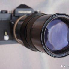 Cámara de fotos: NIKKORMAT NEGRA CON 200 F/4.COMO NUEVO.. Lote 222569075