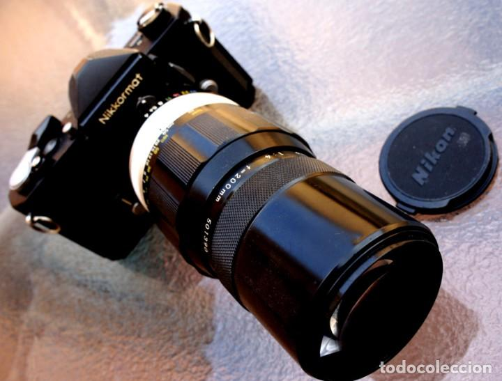 Cámara de fotos: NIKKORMAT NEGRA Con 200 F/4.Como nuevo. - Foto 2 - 222569075