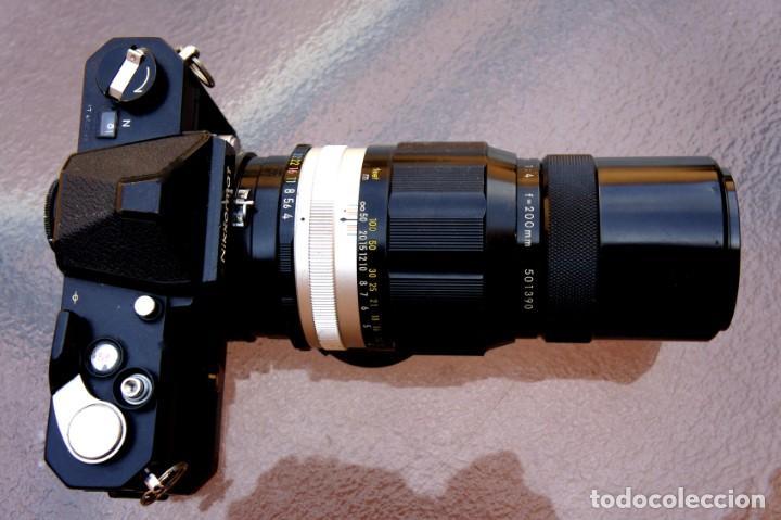 Cámara de fotos: NIKKORMAT NEGRA Con 200 F/4.Como nuevo. - Foto 3 - 222569075