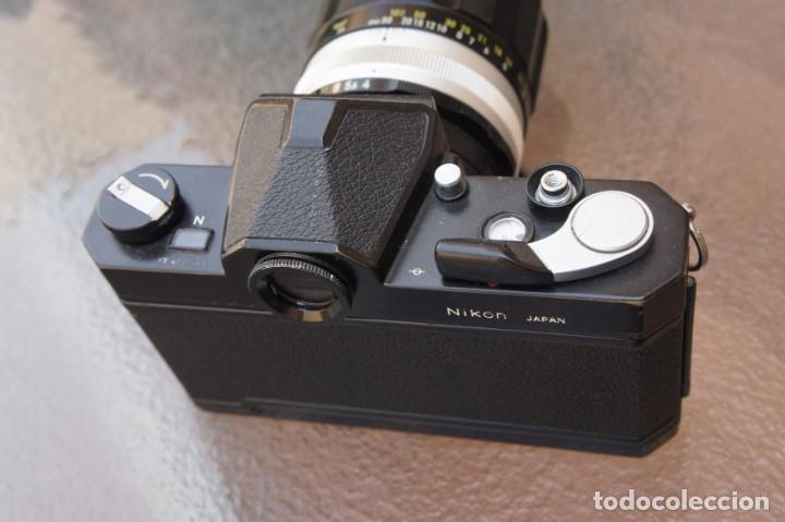 Cámara de fotos: NIKKORMAT NEGRA Con 200 F/4.Como nuevo. - Foto 5 - 222569075